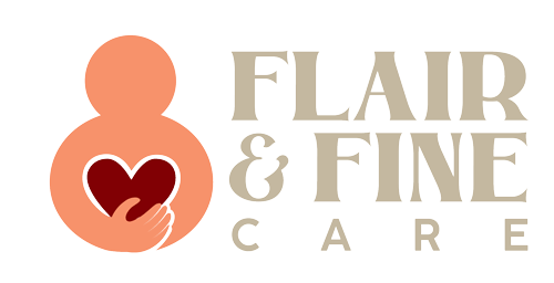 Flair and Fine Care logo footer